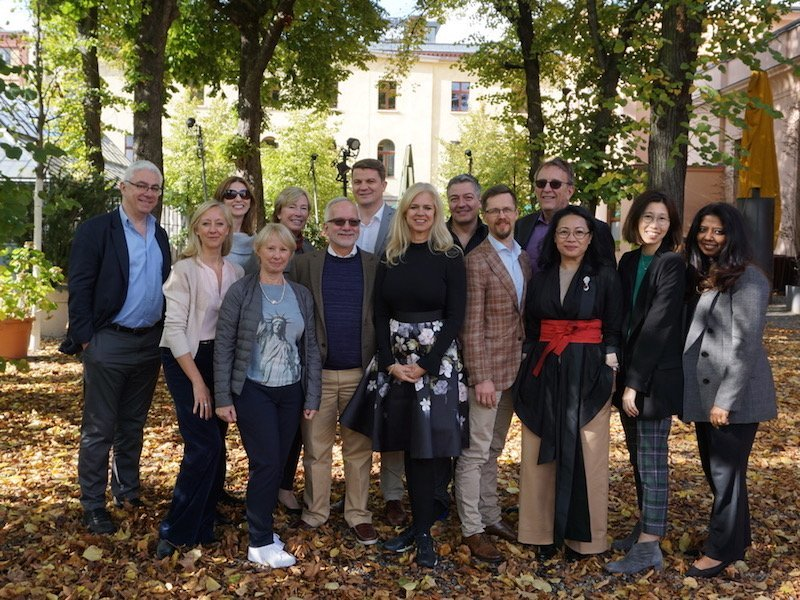 The founding members of FLUID, global communication collective